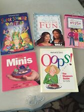 5 American Girl Smart Books Guides Manners Style Slumber Party, Micro Minis, Fun