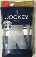 Jockey Pouch  2-Boxer Briefs Medium 32-34 Sea Green / Blue Tranquil  (6676)