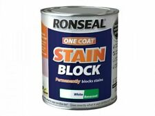 Ronseal One Coat Stain Block White Basecoat 750ml Permanently Blocks Stains