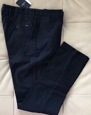 Size 36R inch UK, 46R EUR Hackett London Kensington Slim Fit Chino Trousers Blue