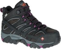Merrell Women's J15876 Moab Mid EH Waterproof Composite Toe Safety Work Boots