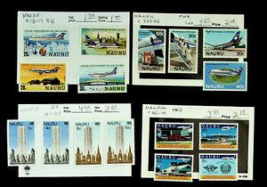 NAURU AIRPORT CIVIL AVIATION ORG. AIR NAURU 16v 4 WITH S/C MNH STAMPS CV $12