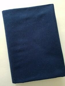 1- 1/4 yards Solid Navy Blue Flannel Quilt Fabric - Inventory Reduction Sale!