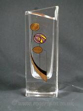 Unusual Shape Glass Vase With Abstract Marking