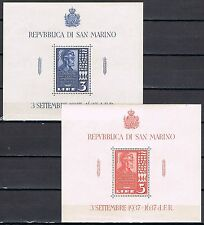 San Marino 1938 blokken 2 en 3 Abraham Lincoln Postfris  MNH cat waarde € 40