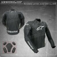 Motogp Men Black Motorcycle motorbike rider racing leather jacket-LLJ-205