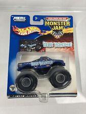 Hot Wheels Blue Thunder Monster Jam #3 Monster Trucks 2002 Metal Base 1:64 4X4