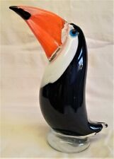 More details for art glass toucan tropical bird figure or paperweight - juliana objets d'art (b)