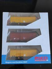 rare coffret PIKO 3 wagons tso 96624 HO