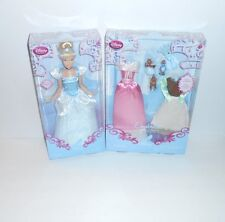 Disney Store Poseable Cinderella Princess Doll + Wardrobe & Friends Set NEW RARE
