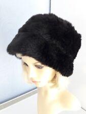 ac5c80c2ecb Ladies black faux fur winter hat Cossack Hat one size 59 cm