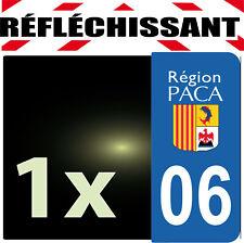 DEPARTEMENT 06 rétro-réfléchissant Plaque Auto 1 sticker autocollant reflectif