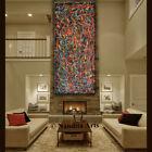 "Oil Painting, Abstract Wall Art Original Jackson Pollock Style 72"" by Nandita"