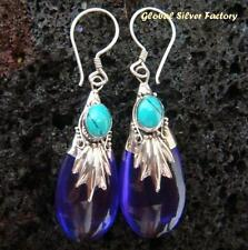 Turquoise Drop/Dangle Sterling Silver Handcrafted Earrings