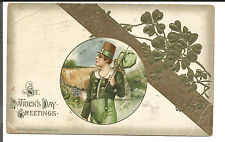 ST. PATRICK'S DAY GREETINGS 1915 UNSIGNED SCHMUCKER