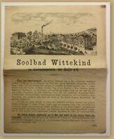 Orig. Prospekt Solbad Wittekind um 1880 Kurort Reise Ortskunde Sachsen-Anhalt sf