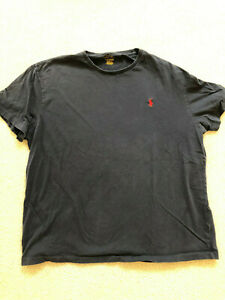 Ralph Lauren polo Men's tshirt shirt Large classic fit - Dark blue w/red polo