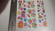 sandylion scrapbooking stickers birthday 3 sticker set RARE