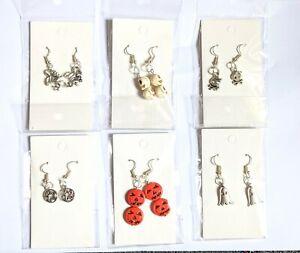 halloween earrings pumpkin earrings halloween jewellery gothic jewellery