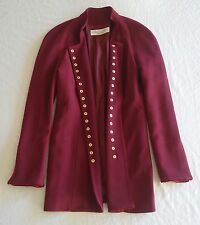 ~ CHRISTIAN DIOR MAROON SNAP BUTTON COAT JACKET (OMG, I DIE!)  ~ 42