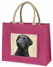 Curly Coat Retriever Dog Large Pink Shopping Bag Christmas Present Id, AD-CR1BLP