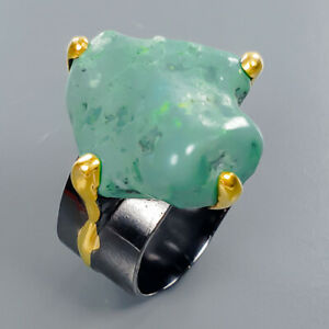 Turquoise Ring Silver 925 Sterling Natural Gemstone Jewelry Size 8 /R134907