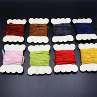 10 Colors Worms Rayon Chenille Yarn/Tinsel line Chenille Yarn Fly Tying Material