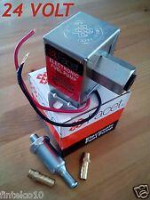 FACET 24 VOLT ELECTRIC FUEL PUMP. 7-4 psi. FITTINGS+FILTER. 12 Mth WARRANTY!