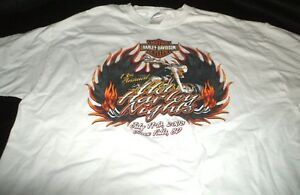 HARLEY DAVIDSON Motorcyle Hot Harley Nights 2008 Sioux Falls SD TEE SHIRT XL