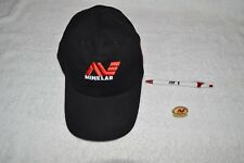 METAL DETECTOR ACCESSORIES ~ MINELAB ~ BASEBALL ~ CAP ~ HAT ~ HAT PIN ~ INK PEN