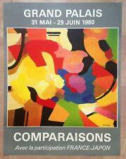 AFFICHE ORIGINALE 1979 EXPOSITION GRAND PALAIS COMPARAISONS PARIS