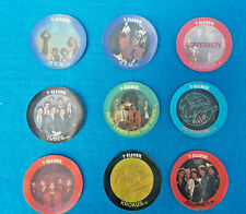 9 Hologram Slurpee Rock/Pop Coins 1980's 7'11 Promo. Lover Boy R.E.M Journey Etc