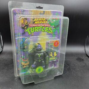TMNT 1994 Super Don Sewer Heroes NOC! Purple Accessories Teenage Mutant Ninja