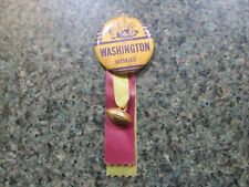 1960'S UNIVERSITY OF WASHINGTON PIN AND RIBBON-RARE