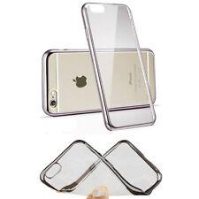 Étuis, housses et coques métallique simple en silicone, caoutchouc, gel pour téléphone mobile et assistant personnel (PDA)