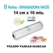8 Rollos cocción y envasar vacío 14cm x 10m - Varias marcas