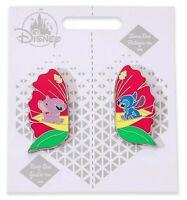 Disney Store Stitch & Angel Pin Set Pair Couples Valentines Wedding Gift Lilo