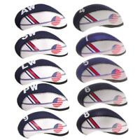 Set de 10pcs Housse Sac de Protection de Tête de Putter de Golf en Nylon