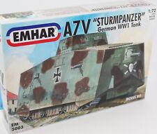 Emhar 5003. German A7v Ww1 Tank. Panzer. 1 72 Scale Plastic Kit