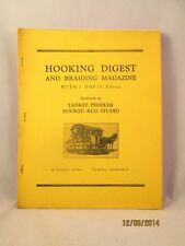 New listing November 1965 Hooking Digest & Braiding Magazine Yankee Peddler Hooked Rug Davis