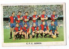 FIGURINA  CARTONATA   STEF  1964-65    SQUADRA  DEL  GENOA   SERIE  DEI  100