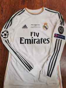 ADIDAS REAL MADRID CHAMPIONS FINAL 2014 LS LONG RONALDO S ORIGINAL JERSEY SHIRT