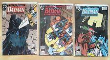 DC The Many Deaths of the Batman Comic Book Set 433 434 435 RARE 1989 VF-NM HTF