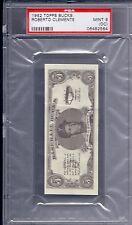1962 Topps Baseball Bucks Roberto Clemente MINT PSA 9 OC