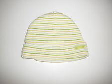 H & M tolle Mütze Gr. 56 creme-gelb-grün gestreift !!
