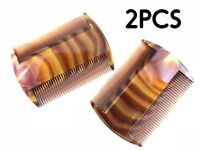 2 HEAD LICE Treatment Comb Kid Nit Hair Flea Egg Removal 2 Sided Fine WideTooth