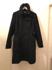 Karen Millen Black Military Style Coat Size Uk 14 Ladies