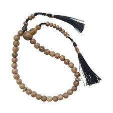 Small Light Brown Oud Aloeswood Agarwood 33-Bead Muslim Prayer Beads Tasbih