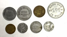 Horwood Lumber Co. Hardware Store Newfoundland Token Collection Lot (8 Pieces)