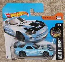 2017 HOT WHEELS Dodge Viper SRT10 ACR Blue #47 Short Euro Card Toy Car MOC HW